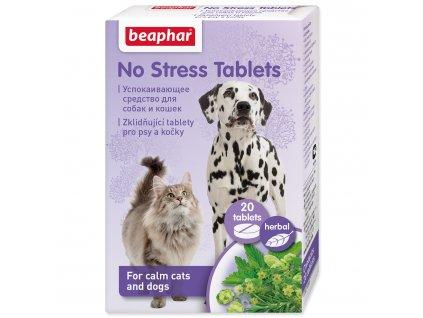 Beaphar No Stress Tablety pro psy a kočky 20ks - antistresové tablety pro kočky a psy