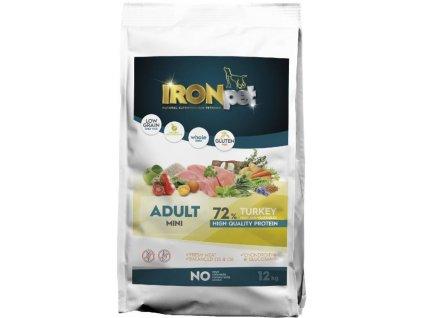 IRONpet TURKEY Mini Adult 12kg  Superprémiové české bezlepkové granule pro psy s vysokým podílem masa