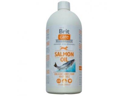 Brit Care Lososový olej 1000ml  100% přírodní lososový olej je superpremiový doplněk stravy pro psy
