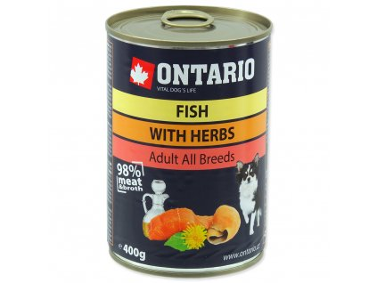 Konzerva ONTARIO Dog Mini Multi Fish and Salmon Oil (400g)