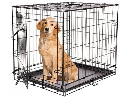 Klec DOG FANTASY skládací černá XXL - 1 dveře 122 x 84 x 76 cm (1ks)  Drátěná skládací klec s dvířky. Velikost: 122 x 84 x 76 cm.