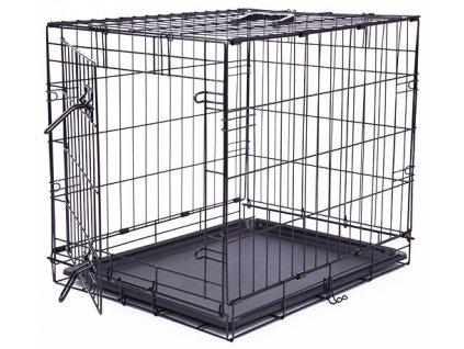 Klec DOG FANTASY skládací černá S - 1 dveře 61 x 48 x 46 cm (1ks)  Drátěná skládací klec s dvířky. Velikost: 61 x 48 x 46 cm.