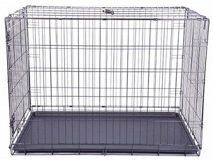 Klec DOG FANTASY skládací černá XL - 1 dveře 106,5 x 76 x 71 cm (1ks)  Drátěná skládací klec s dvířky. Velikost: 106,5 x 76 x 71 cm.