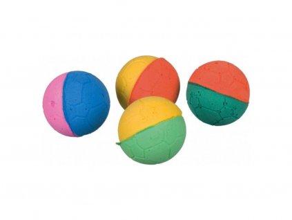 Míčky mechová guma - různobarevné  4,3cm / bal .4ks