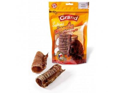 Grand Hovězí sušený hrtan 2ks (10cm)  100% kvalitní český sušený pamlsek, který zachovává v sobě vitamíny a vše potřebné. Zároveň přispívá ke zdravějšímu chrupu