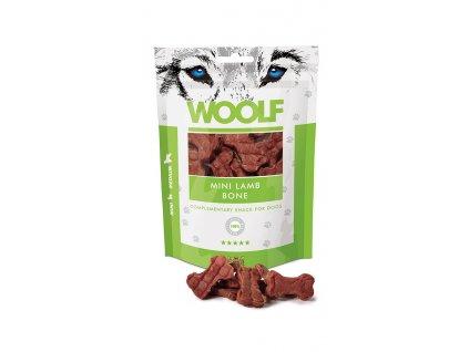 WOOLF pochoutka Mini Lamb Bone 100g  Vysoce kvalitní masový pamlsek pro psy