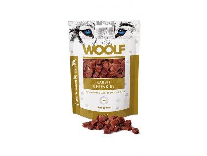WOOLF pochoutka Rabbit Chunkies 100g  Vysoce kvalitní masový pamlsek pro psy