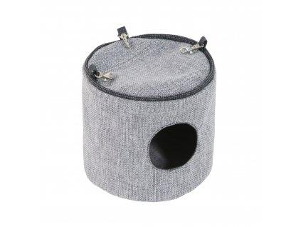 Závěsný domeček O´LALA PETS Luxury 20x20 cm světle šedá  příjemný závěsný domeček pro hlodavce