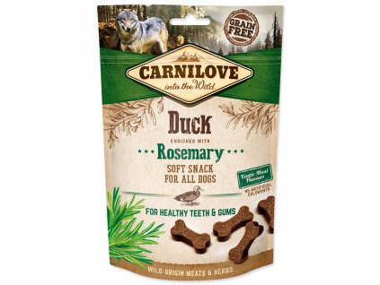 CARNILOVE Dog Semi Moist Snack Duck enriched with Rosemary (200g)