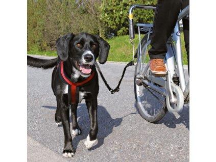 Vodící set na kolo DE LUXE  Vodící set na kolo pro střední a velké psy
