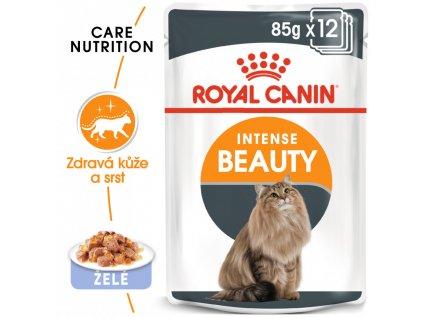 ROYAL CANIN Intense Beauty Jelly 12X85G (BAL.)  Intense Beauty Jelly kapsička pro kočky v želé