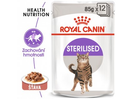 ROYAL CANIN Sterilised Gravy 12x85G (bal.)  Sterilised Gravy kapsička pro kastrované kočky ve šťávě