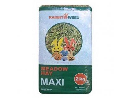 Seno luční Maxi RabbitWeed 2kg 100 l  Šťavnaté luční seno pro hlodavce