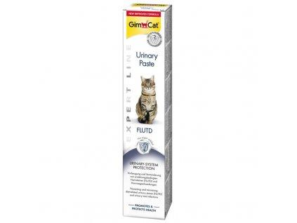GimCat Urinary Pasta 50g  Snack pro kočky trpící onemocněním močových cest, bez cukru, speciální přísady prokazatelně snižují tvorbu močových kamenů a pečují o močové cesty zev