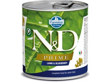 N&D DOG PRIME Adult Lamb & Blueberry 285g  Kvalitní chutné konzervy