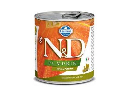 N&D DOG PUMPKIN Adult Duck & Pumpkin 285g  Kvalitní chutné konzervy