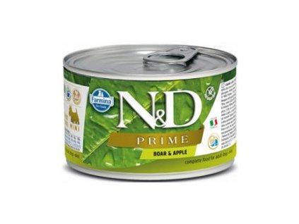 N&D DOG PRIME Adult Boar & Apple Mini 140g  Kvalitní přírodní chutné konzervy