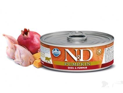 N&D CAT PUMPKIN Adult Quail & Pumpkin 80g  kvalitní masové konzervy