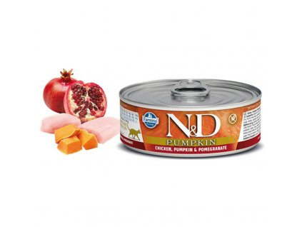 N&D CAT PUMPKIN Adult Chicken & Pomegranate 80g  Kvalitni masová konzerva