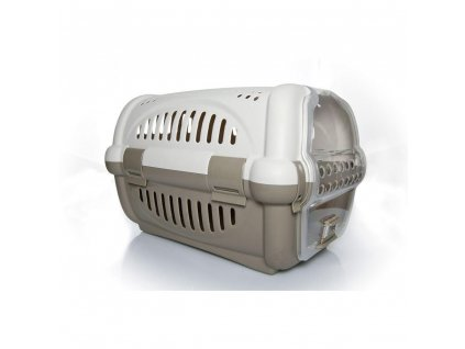 Transportní box ARGI béžový  51 x 34,5 x 33 cm  Praktická pohodlná přepravka pro psy, kočky a hlodavce