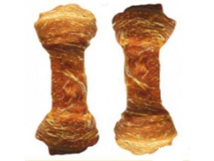 Buvolí uzel celoobalený-Kachna 15cm (75-90g) 6ks  přírožní žvýkací pamlsek pro psy