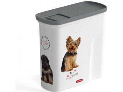 Curver kontejner na suché krmivo 2l pes  Praktický zásobník na pamlsky nebo psí granule