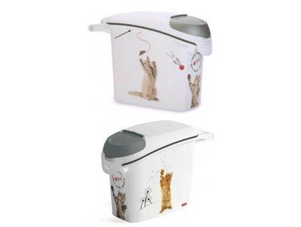 Curver kontejner na suché krmivo 15l/ 6kg kočka  Praktický kontejner Curver pro snadné uskladnění a dávkování suchého krmiva pro domácí mazlíčky