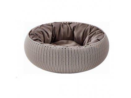 Curver postýlka KNIT SANDY pro zvířata 1ks  Pohodlí pro vašeho domácího mazlíčka a útulný styl v teple vašeho domova.