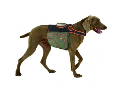 Batoh pro psy zelená/oranžová reflexní KARLIE