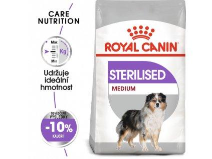 ROYAL CANIN Medium Sterilised - granule pro kastrované střední psy  Masové granule pro kastrované střední psy