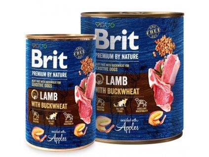 Brit Premium Dog by Nature konzerva Lamb & Buckwheat  masové bezobilné konzervy pro psy