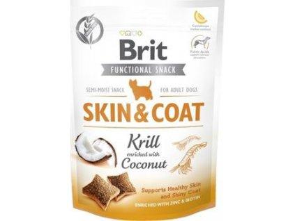 Brit Care Dog Functional Snack Skin&Coat Krill 150g  Lahodné a výživové masové pamlsky pro psy