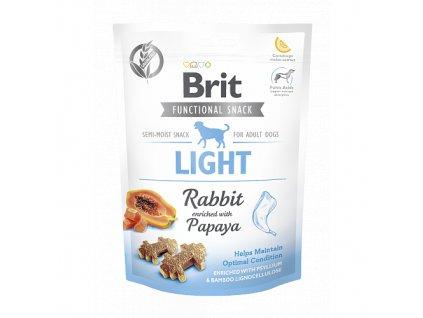 Brit Care Dog Functional Snack Light Rabbit 150g  Lahodné a výživové masové pamlsky pro psy