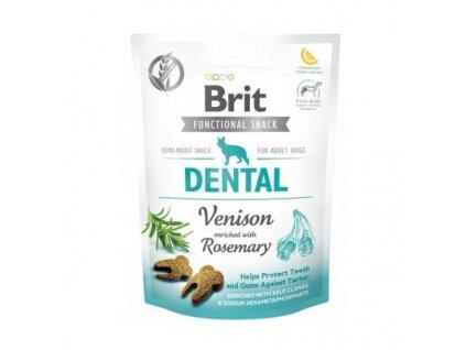 Brit Care Dog Functional Snack Dental Venison 150g  Lahodné a výživové masové pamlsky pro psy