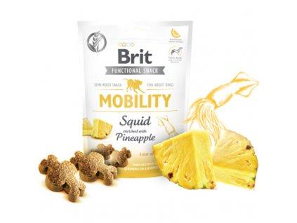 Brit Care Dog Functional Snack Mobility Squid 150g  Lahodné a výživové masové pamlsky pro psy