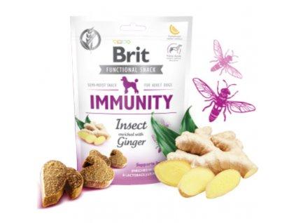 Brit Care Dog Functional Snack Immunity Insect 150g  Lahodné a výživové masové pamlsky pro psy