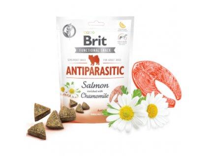 Brit Care Dog Functional Snack Antiparasit Salmon 150g  Lahodné a výživové masové pamlsky pro psy