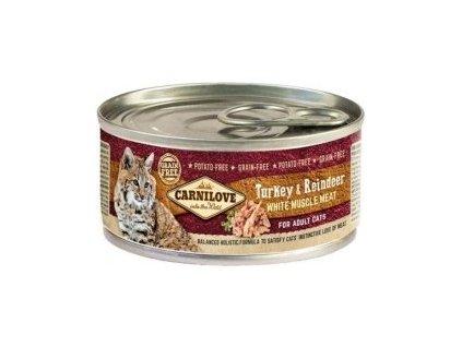 Carnilove White konz Mus Meat Turkey&Reindeer Cats 100g  sleva 2% při registraci