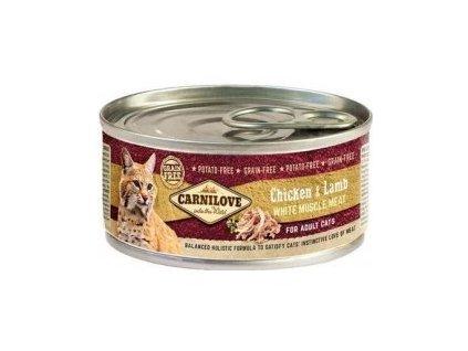 Carnilove White konz Mus Meat Chicken&Lamb Cats 100g  sleva 2% při registraci