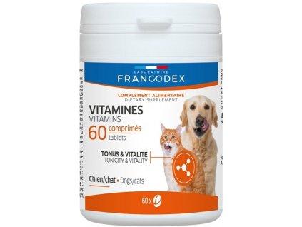 Francodex Vitamins pes, kočka 60tab  sleva 2% při registraci