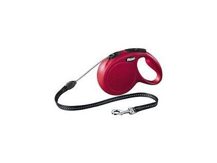 Vodítko FLEXI Classic NEW XS lanko 3m/8kg červená