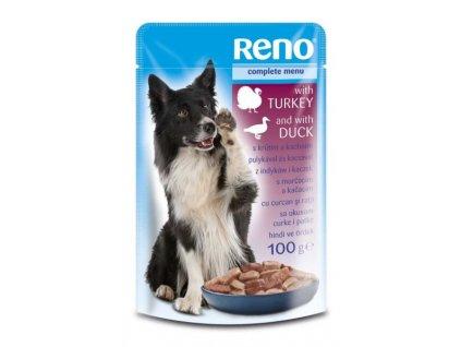 RENO kapsička pro psy Krůta & Kachna 100g  sleva 2% při registraci