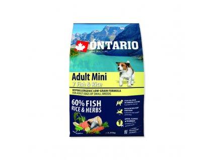 ONTARIO ADULT MINI 7 FISH & RICE 6,5kg  Pro registrované věrnostní slevy