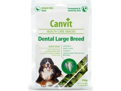 Canvit Snacks Dental Large Breed-Duck 250g