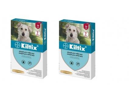 KILTIX antiparazitní obojek pro psy 70 cm (balení 2 ks)  výhodné balení 2 kusů