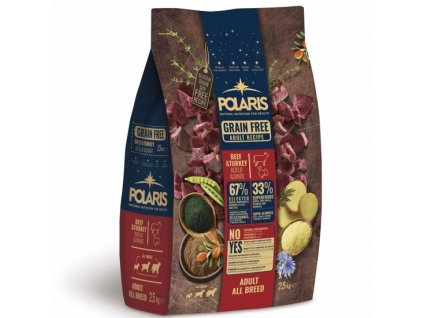 Polaris GF pes Adult All hovězí, krůta 2,5kg  + Dárek křupavé sušenky ZDARMA