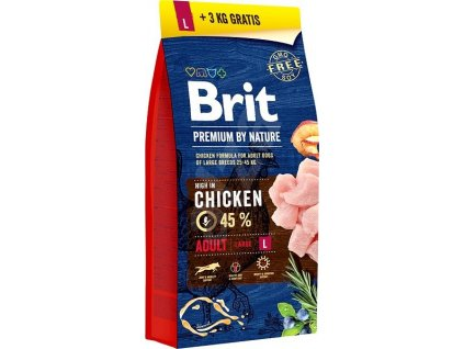 Brit Premium Dog by Nature Adult L 15kg + 3kg
