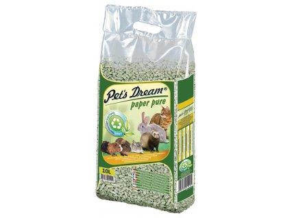 Pelety JRS Pet`s Dream Paper Pure - papírová podestýlka 10 l (4,8 kg)