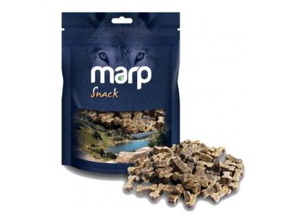 Marp Snack - pamlsky s jehněčím masem 150g  100% kvalitní český sušený pamlsek, který zachovává v sobě vitamíny a vše potřebné. Zároveň přispívá ke zdravějšímu chrupu