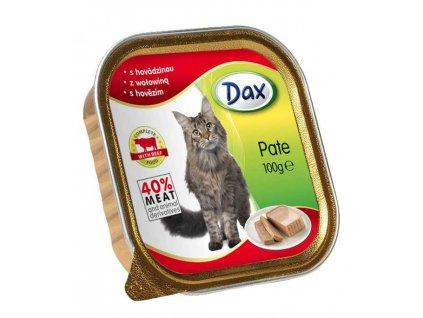 Dax vanicka Masové paté pro kočky hovězí 100g